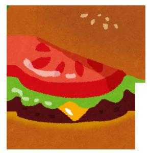 ハンバーガーイラスト